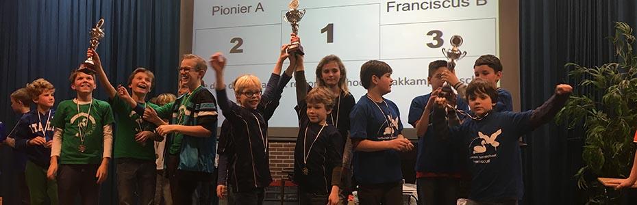Schoolschaak 2017 Winnaars Bovenbouw